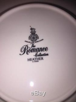 1 VTG 24 PC Set Royal Doulton China Heather Romance Collection England H5089