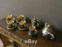 11 PIECE CHINA PORCELAIN TEA SET Dollhouse England 112 scale Marked