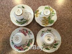 11 Tea Cup & Saucer Sets Made In England Fine Bone China. Aynsley, Foley, Others