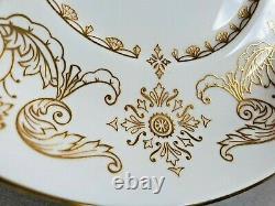 12 Set Rare Staffordshire Bone China England Belgrave Square Cup & Saucer