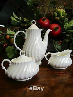 15 Pc ROYAL DOULTON Coffee Set Espresso White Bone China England Cascade Mod