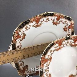 19 Piece Sutherland Bone china England Tea Snack Set Teacup Saucer Cake Plate