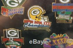 1997 Super Bowl XXXI Green Bay New England 5 Pin Set #3081/5000 Sealed