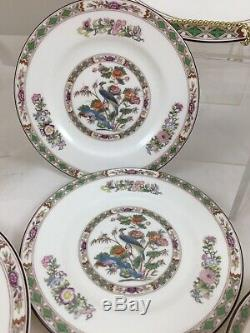 2 Wedgwood Kutani Crane 5-Piece Place Settings Bone China England (Leigh Cups)