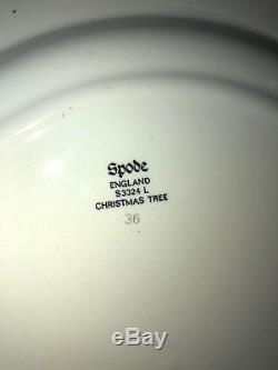 20 Pieces of Spode Christmas Tree China, Made in England 4 Place Settings Mint