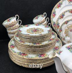 24 Pcs Paragon Minuet Dinnerset Bone China Dinner Set England Dinner Salad Bread