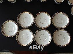 27 Piece BLYTH DIAMOND England Cobalt Blue China Tea / Luncheon Set