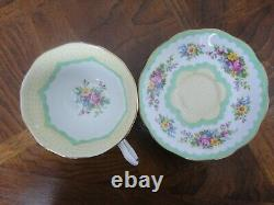 3 Set Of Royal Albert Crown China England Prudence Cup & Saucer REG No. 82113
