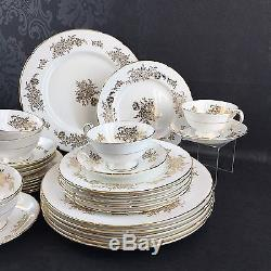 30 Piece 6 Setting Paragon Golden Fragrance Vintage Bone China England Plates