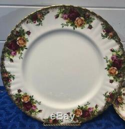 38 Piece ROYAL ALBERT OLD COUNTRY ROSE 1962 China Set EUC England