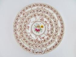 4 Place Setting, Cauldon England Floral Melody Bone China Dinnerware Set