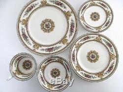 4 Place Setting, Wedgwood England Columbia Enameled Bone China Tableware
