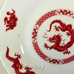 40 pcs Queens Rosina Red Dragon Ware Bone China 8 Place Settings Made in England