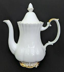 4pc Set Royal Albert VAL D'OR Coffee Pot + 2 Cups Bone China England