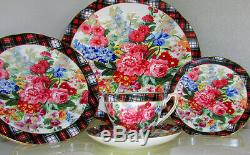 5 Pc Place Setting Ralph Lauren Hampton Floral Wedgwood Bone China England