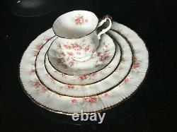 5 piece place setting Paragon Victoriana Rose bone china made in England