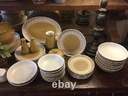 54 Piece Denby Mid Century Modern China England Earthenware Dinnerware Set