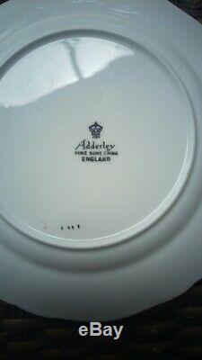 54 Piece Set- Adderley Fine Bone China From England