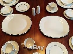 58 Pc Dinnerware Set English Ironstone Silver Elegance Salem Fine China England