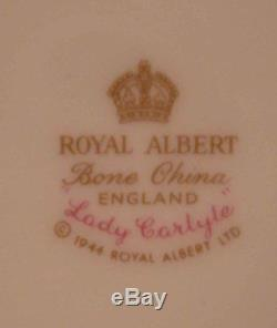 6 Royal Albert Bone China England LADY CARLYLE Floral Cup & Saucer Sets PRETTY