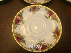 6 Royal Albert Espresso OLD COUNTRY ROSES PLATES 1962 Bone China Set Plate