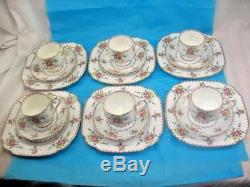6 SETS Royal Albert England Petit Point Bone China TRIO 7-3/4 Plate ELEGANT