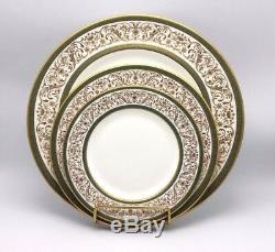 60 pc Minton Aragon Dinner Set 12 Place Settings Bone China England