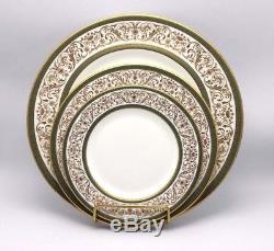 60 pc Minton Aragon Dinner Set 12 Place Settings Bone China England (D)