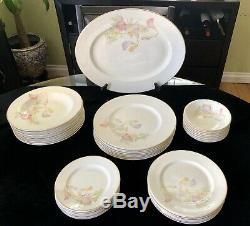 75-pc Bone China England (Poppy Pattern) 7-place Setting Service For 8