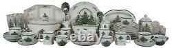 76 Pc Vintage Spode Christmas Tree China Dinnerware Set Holiday Service England