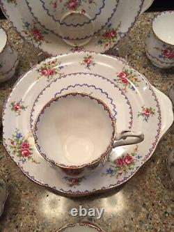 8 Royal Albert Bone China, England, PETIT POINT, snack sets, good condition