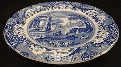 8 pc. Spode England Blue Italian China Scalloped 10 3/8 Dinner plate set