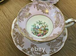 9 Vintage Bone China Tea Cup and Saucer Sets, Foley England