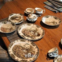90 pieces, The Friendly Village China set, Johnson Brothers, Made in England