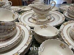 94 PC Set Vtg Copeland Spode England China Buttercup Floral Yellow Brown 1895