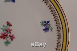 ANTIQUE SET 8 COPELAND CHINA ENGLAND LUNCHEON PLATES hand painted enameled 9