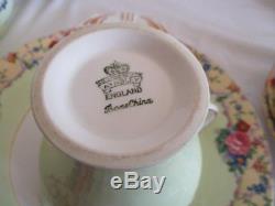 AYNSLEY ENGLAND Bone China tea set of teacups plates and jug, bowl