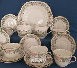 AYNSLEY WILD TUDOR BONE CHINA 18 PIECE TEA SET MADE IN ENGLAND 1st QUALITY RARE