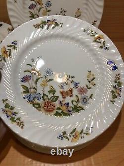 AYNSLEYCottage GardenFine Bone China, England Salad Plates, Set Of 6 NEW
