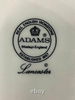 Adams Lancaster English Ironstone China 5 Piece Place Setting England 6 sets