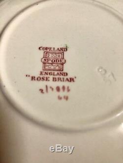 Antique 27-pc Spode Copeland England Rose Briar Pattern China Set