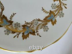 Antique China set 18 plates 3 sizes Grosvenor Blue & Gold England Bone