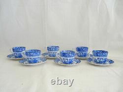 Antique Copeland China England Dessert Set Cups Saucers Plates Set of 6