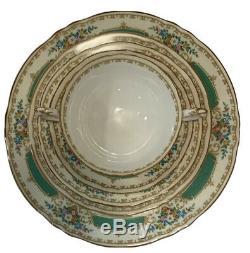 Antique Crown Staffordshire, Rare 5 Pc Bone China Pate Setting #15645 England