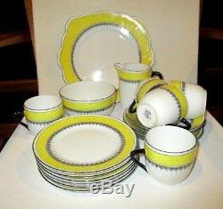 Antique Foley China #1047 made in England tea set cups sauces +plates