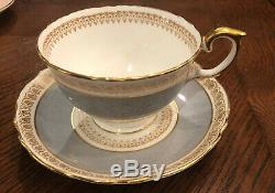 Antique Made In England Assorted Tea Cup & Saucer Set (14 Pc) Fine Bone China
