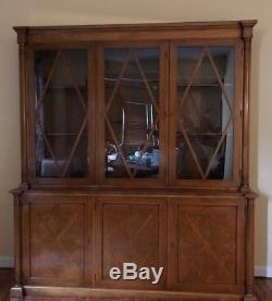 Antique Mahogony China Cabinet & Dining Set. Beacon Hill Collection by Kaplan