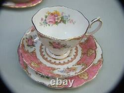Antique Royal Albert Tea Set Bone China England Lady Carlyle Regd. No. 855022