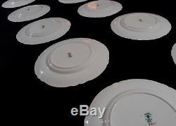 Antique STAFFORDSHIRE Dinner Plates CROWN Fine Bone China set -11 England RARE