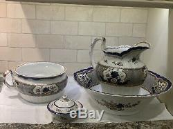 Antique Stone China Booths England Wash Bathroom Set -pattern Victoria